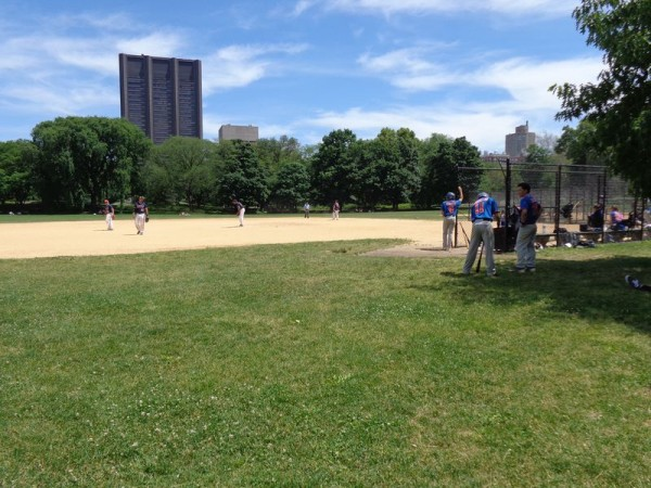 Baseball, trénink - Central Park, New York